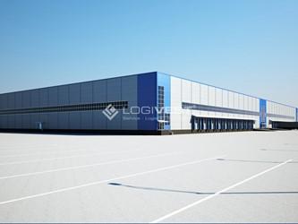 Mobile Vorschaubild Musterbild Baustelle Buero mit Halle